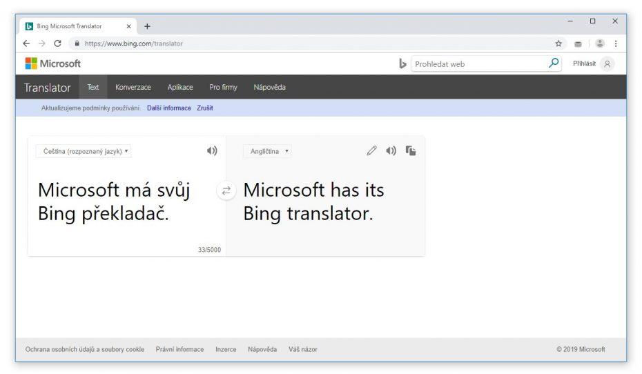 Překladač Bing
