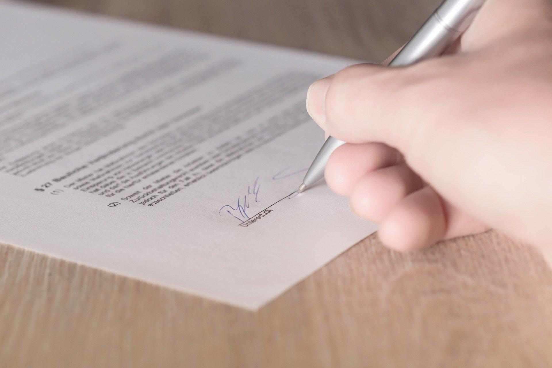 plná moc: podpis