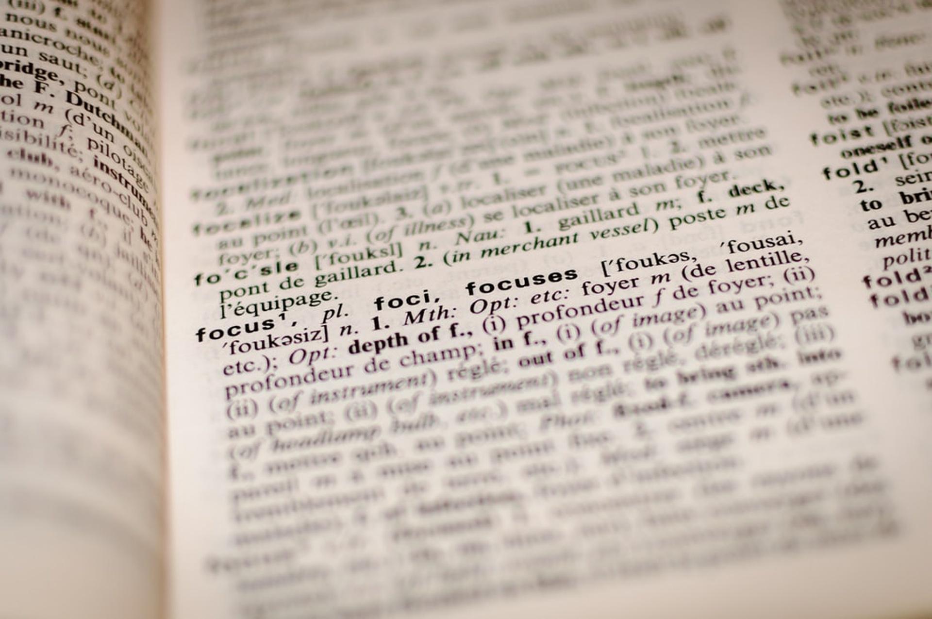 angličtina slovník